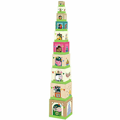 HABA On the Farm Sturdy Cardboard Nesting & Stacking Cubes