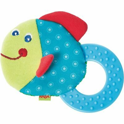 HABA Teether Chomp Champ Fish Soft Activity Toy (Made for ages 0+ Months)