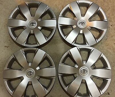 """Set Of 4 61137 Toyota Camry Hubcaps Wheelcover 16 """" Inch 2007 08 09 10 11 12 New"""
