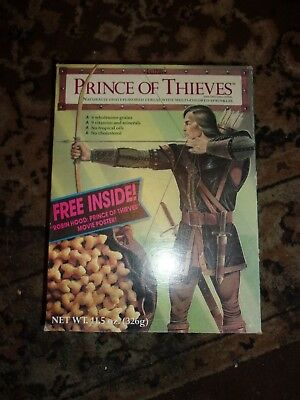 Vintage Prince of Thieves Cereal Box Movie poster back