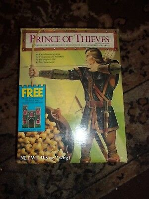 Vintage Prince of Thieves Cereal Box Castle action scene  back