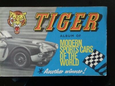 Vintage Tiger Album Of Modern Sports Cars 16 Stickers Complete