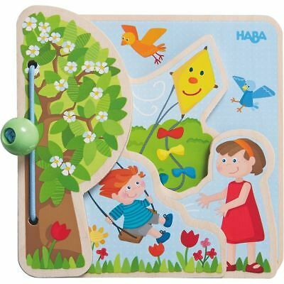 HABA Wooden Baby Book - The Four Seasons with Layered Wood Pages