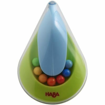 Haba Clutching Toy Rainbow Whirligig - Clear Plastic Rattle & Teether