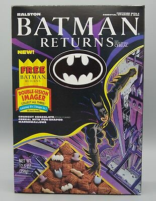 Batman Returns Cereal Box with Double-Vision Imager on back   1992