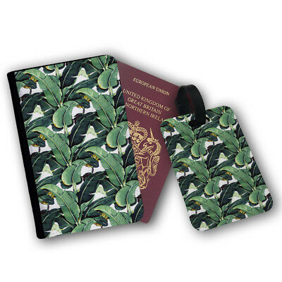 Banana Leaf Tropical Fruit Artwork Painting Travel Protection Flip Cover Case