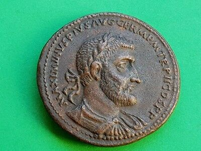 7. Maximinus Thrax and his son Maximus, Extremely Rare Medallion, 44,13g; 42mm