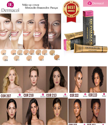 Dermacol High Cover Makeup Foundation Hypoallergenic Waterproof SPF-30 Make upJD
