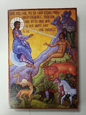 Creation of Man, orthodox icon,Size 6, 11/16 x 9, 12/16 inches