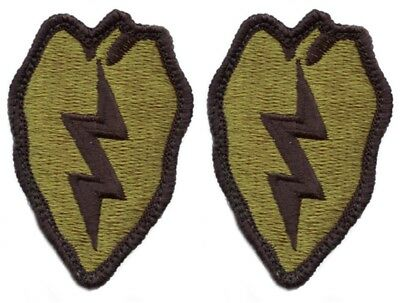 2 Pack US Army 25th Infantry Division OCP Scorpion Hook Back Military Patches