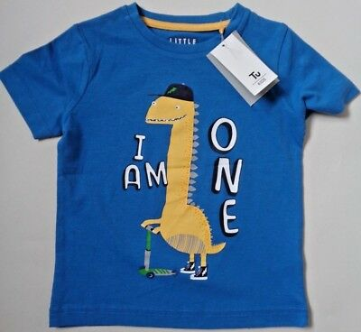 "Kids Dinosaur T-shirt~ ""I am 1""~ Free UK P&P~Ages 12-24 months~ 1st Birthday~NEW"