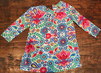 Hanna Andersson Knit Floral Dress Size 90 - 3 / 4