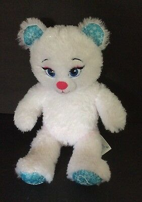 "BUILD A BEAR 16"" ELSA FROZEN Sparkle DISNEY PLUSH DOLL Excellent Condition"