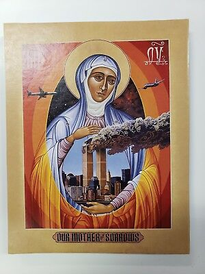 Mother of all Sorrows, orthodox icon,Size 7, 14/16 x 10 inches