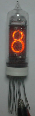 IN-14 Russian nixie tubes for clock. 1Pcs. NOS