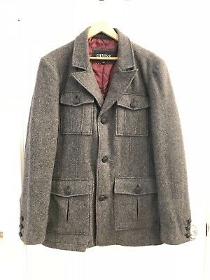 Guess Jacket Mens 3 Button Large