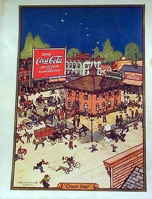 Advertising Reprint From 1921 Coca Cola Court Day