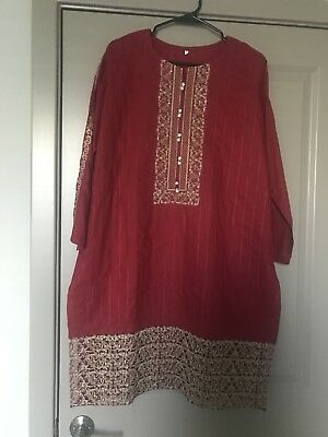 Pakistani Large Sized Kurti With Dupata not Agha Noor