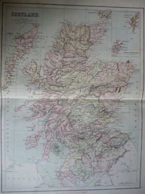 Map of Scotland (Nr. 5) from Philips' Comprehensive Atlas 1852. Philip, George