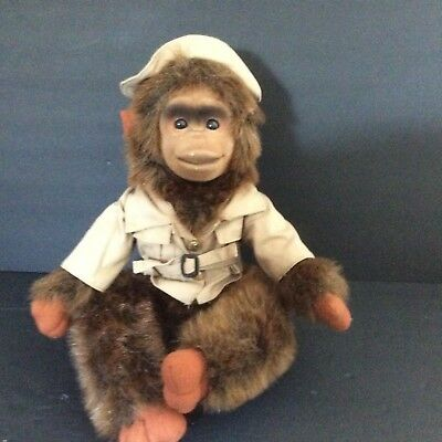 Vintage Safari Monkey Plush Kid's Toy Shalom Toy Co.  Retired 1970's Collectible