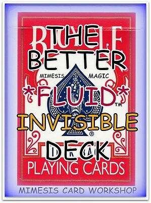 """A BETTER """"Fluid"""" Invisible Deck [RED] by the Mimesis Card Workshop"""