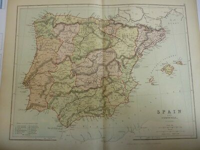 Map of Spain and Portugal. (Nr. 18) from Philips' Comprehensive Atlas 1852. By H