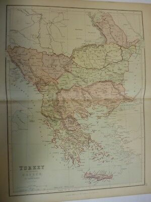 Map of Turkey in Europe, Greece and the Ionian Islands.. (Nr. 20) from Philips'