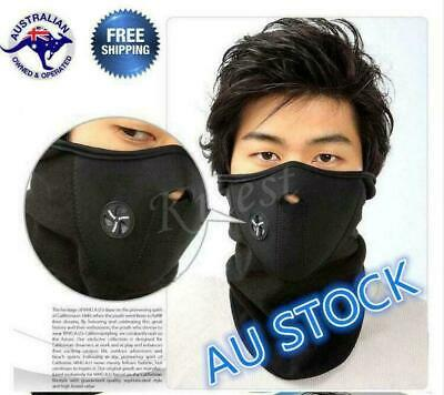 FACE MASK MOTORCYCLE BICYCLE BIKE Balaclava SNOWBOARD SKI SCOOTER Au Stock