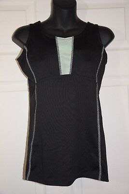 3541fe97ac680 GAIAM Womens Black Mint Athletic Built in Bra Racerback Tank Top SMALL