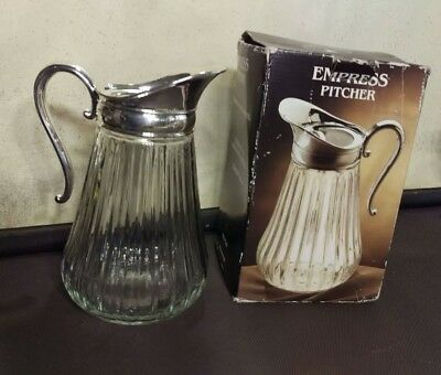 Fine Quality Silverplate and Crystal Empress Pitcher by Paul Revere Silversmiths