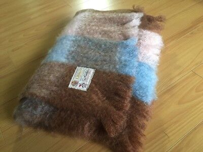 Vintage LIBERTY OF LONDON SCOTTISH MOHAIR THROW BLANKET  By GLEN CREE