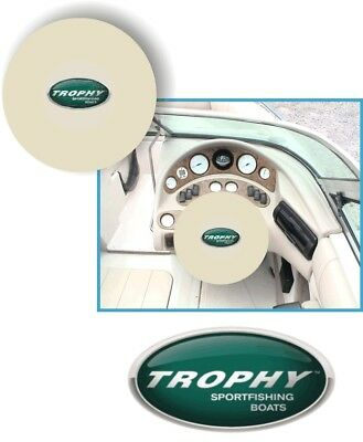 WHITE 100% Microfiber TROPHY FISHING BOATS Stretchable Boat Steering Wheel Cover