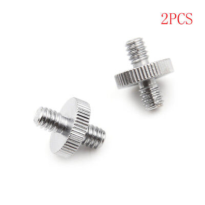 "2PCS 1/4"" 1/4"" Male to 1/4"" Male Threaded Screw Adapter Double Head Screw OJ"