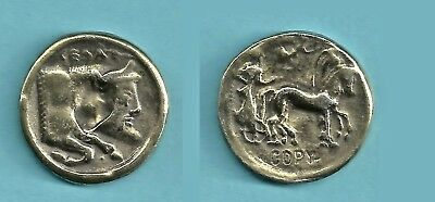 1981 Gelas the Bull-Headed Greek River God Brass Toned Coin from Reader's Digest