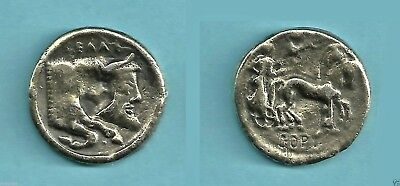 1982 Gelas the Bull-Headed Greek River God Brass Toned Coin from Reader's Digest