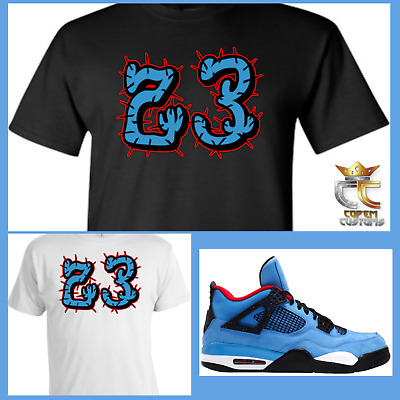 new arrival 1ba57 f23b3 EXCLUSIVE TEE T SHIRT 3 to match AIR JORDAN 4 TRAVIS SCOTT CACTUS JACK  OILERS