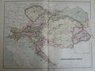 Map of The Austro-Hungarian Empire. (Nr. 16) from Philips' Comprehensive Atlas 1
