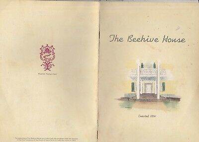 The Beehive House Of Brigham Young 1960'S Brochure