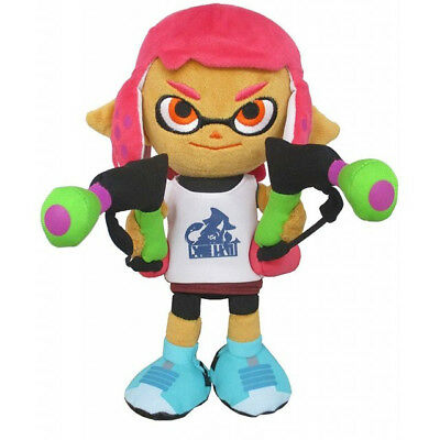 NEW Little Buddy (1660) Splatoon 2 All Star Inkling Girl (Neon Pink) Plush Doll