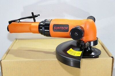 """Suntech 2.2 HP Governed Heavy Industrial Pneumatic Air 7"""" Angle Grinder 5/8""""-11"""