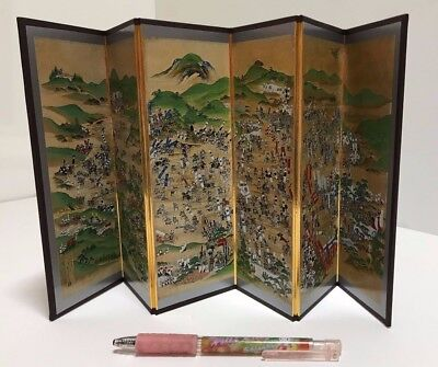 Sekigahara Battle Small size Folding Screen with tracking number from Japan