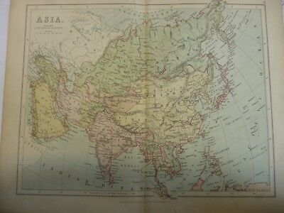 Map of Asia. (Nr. 21) from Philips' Comprehensive Atlas 1852. Philip, George
