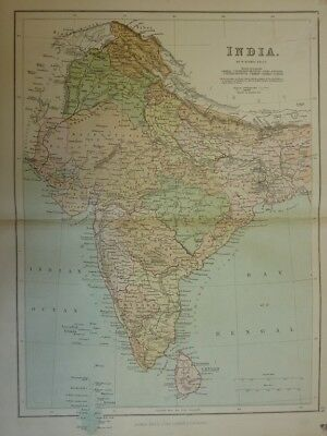 Map of India. (Nr. 24) from Philips' Comprehensive Atlas 1852. By W. Hughes Phil
