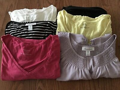 Motherhood Maternity Clothings Lot Of 6 Pcs - Tights, Tops, Shirts
