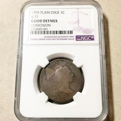 1795  Liberty Cap Large Cent  S-77 Plain Edge Ngc Good Details #8028