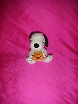 Rare Peanuts Halloween Snoopy Great Pumpkin Plush Dog Musical Palm Pals Kcare