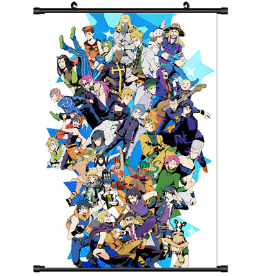Anime Jojo JoJo's Bizarre Adventure Jotaro Wall Poster Scroll  s3151