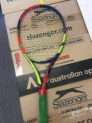 USED(80% New)BabolaT Pure Aero 2017 300G 4 1/4 New Strung With Luxilon Original