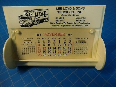 Vintage Truck Co. Advertisement Weighted Calendar  1984  Greenville, IL