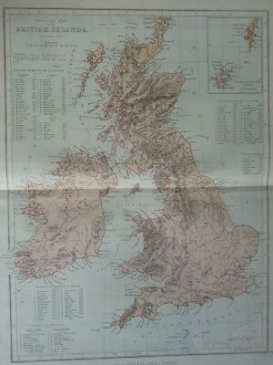 Map of British Islands (Nr. 3) from Philips' Comprehensive Atlas 1852. by Hughes